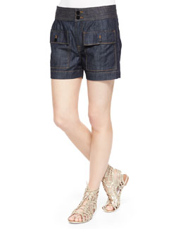 Le St Tropez Denim Shorts, Avenue Montaigne