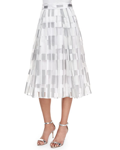 Cubist Fil Coupe Pleated Midi Skirt