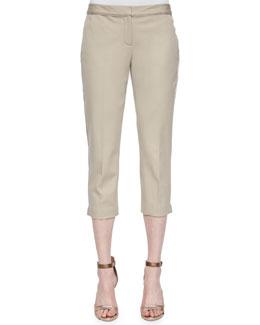 Alanis Cropped Pants, Khaki