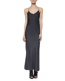 Spaghetti-Strap Bias Maxi Dress