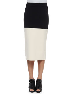 Regina Colorblock Midi Pencil Skirt