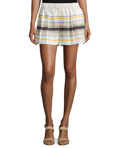 Holten Striped Flared Shorts