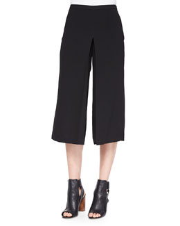 Pleated Cropped Culottes