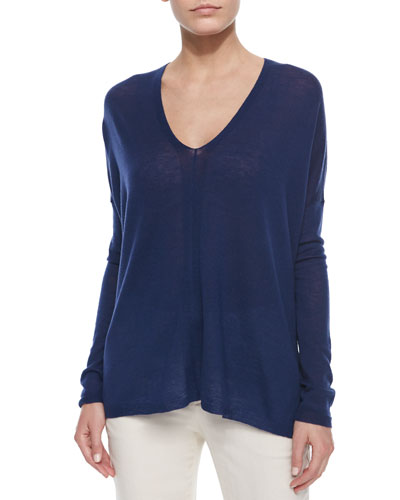 Lightweight Knit V-Neck Top