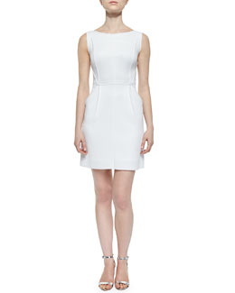 Seamed Tech Sheath Dress