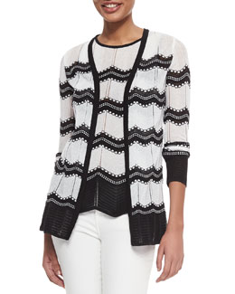 Dot Waves Knit Cardigan