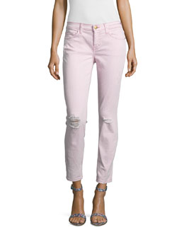 The Stiletto Distressed Skinny Jeans, Blush