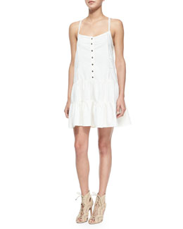 The Florence Poplin Dress, Dirty White