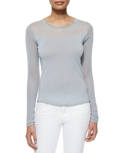 Luana Mesh-Long-Sleeve Sweater