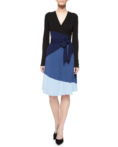 Mary Bell Colorblock Wrap Dress