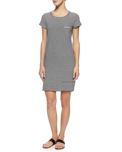 Courtina Striped Cotton Sheath Dress