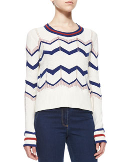 Kindling Cotton Chevron Pullover
