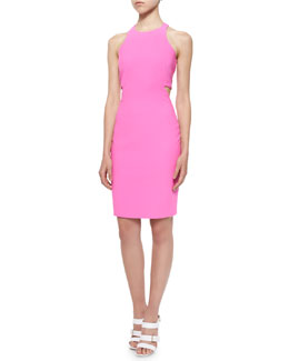 Lela Ponte Racerback Cutout Sheath Dress