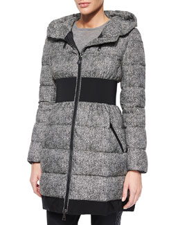 Puivert Belted Puffer Coat, Black