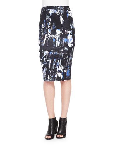 Richter-Print Contour Skirt