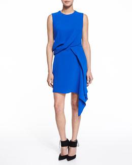 Sleeveless Handkerchief Draped Dress