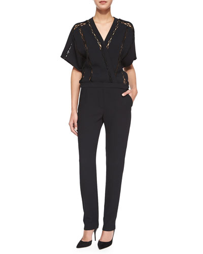 Boyles Short-Sleeve Jumpsuit