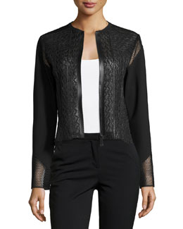 Clearly Leather & Mesh Jacket