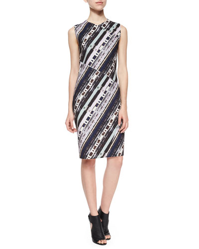 Sleeveless Cassette-Print Dress