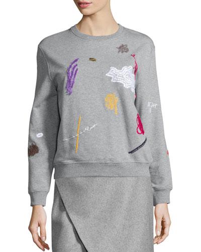 Embroidered Icon Sweatshirt