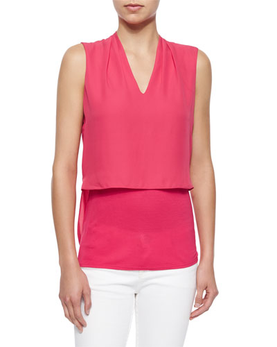 Viola Sleeveless Silk Blouse
