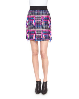 Couture Tweed Pencil Skirt, Multi Colors