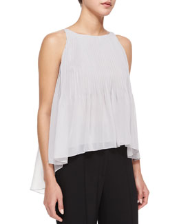 Chloe Pleated Chiffon Tank