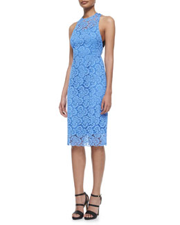 Sultry Lace Cocktail Dress, Periwinkle