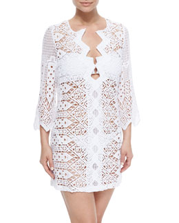 Elliot Crochet Tunic Coverup