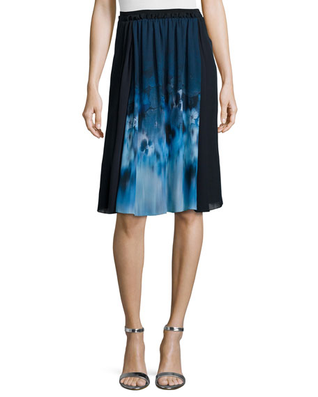Jenna Floral-Print Pleated Skirt