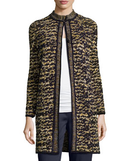 Knit Boucle Topper Jacket