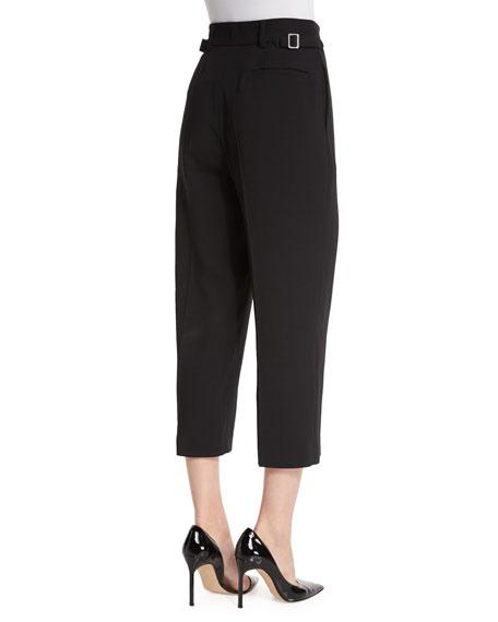 High-Waist Wool Cropped Pants