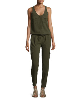Vernay Cargo-Pocket Jumpsuit, Military