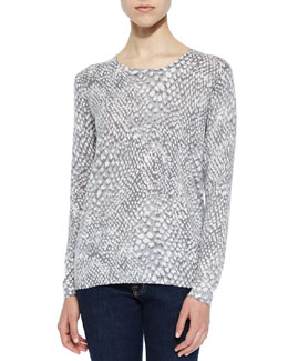 Feronia Snakeskin-Printed Top