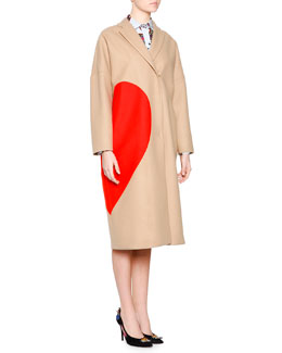 Heart Wool-Blend Coat