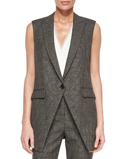 Flavio Torrey Check Vest, Black/White