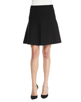 Marvita B. Evian Skirt, Black/Ivory Ice