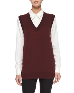 Audria Preen Reversible Sweater Vest