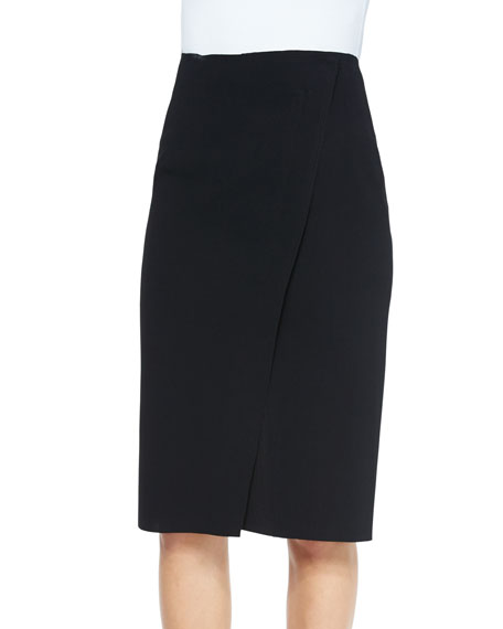 Vince Bonded Laser-Cut Pencil Skirt