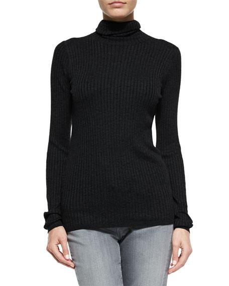 Long-Sleeve Skinny-Rib Sweater