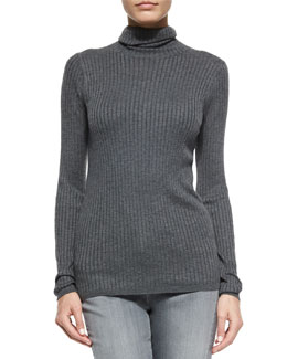Long-Sleeve Skinny-Rib Sweater