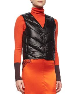 Hybrid Quilted Liner Vest, Black