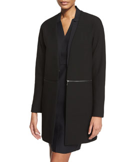 Adiano Long Coat W/ Zip-Off Hem