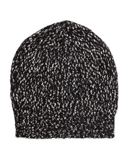 Multicolor Knit Beanie Hat