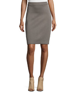Bonded Jersey Pencil Skirt