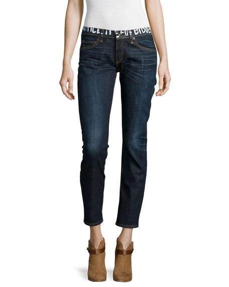 Tomboy Slim Cropped Jeans, Classic Graffiti