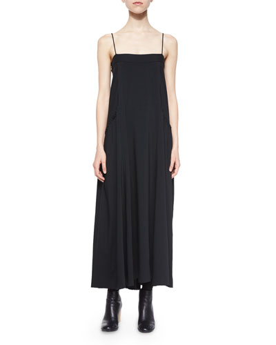 Ruffle-Trim Jersey Maxi Dress