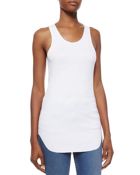 Cotton Racerback Shirttail Tank Top