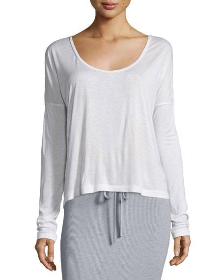 f37e91635d alexanderwang.t Long-Sleeve Jersey Tee & Ribbed Drawstring Maxi Skirt