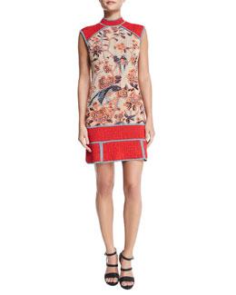 Floral Tapestry Jacquard Dress